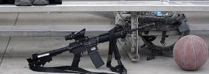 Imagen de un fusil semiautomático AR-15 como el que se sorteará.