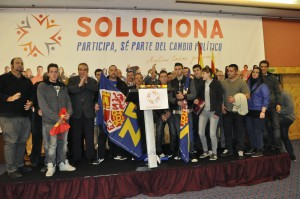 Una representación juvenil de DN asistió al acto de presentación de SOLUCIONA en Cataluña.