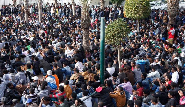 Inmigrantes africanos en Tel Aviv