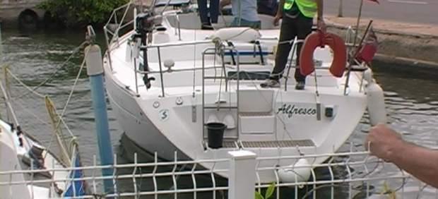 El velero incautado en Roses en 2007 con 2.880 kilos de hachís a bordo.