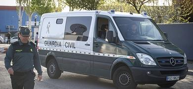 Furgón de la Guardia Civil que ha trasladado hoy a Luis Bárcenas.