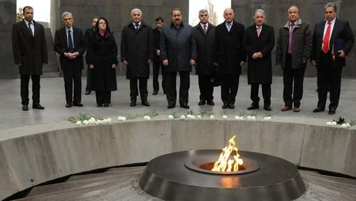 Monumento en homenaje a las víctimas del genocidio armenio en Erevan, la capital del país.