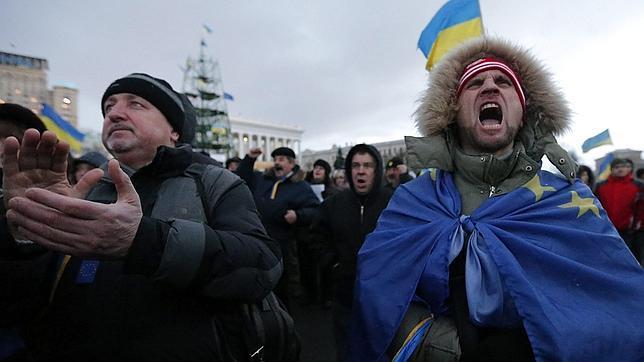 Manifestación a favor de la integración de Ucrania en la UE