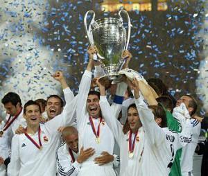 La celebración de la novena copa de Europa.