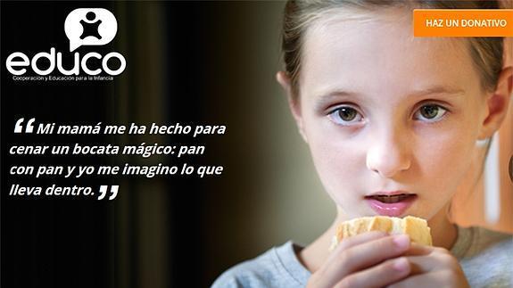 Campaña de Educo.