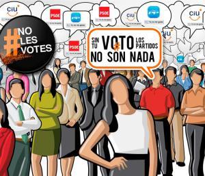 Cartel a favor de la abstención electoral