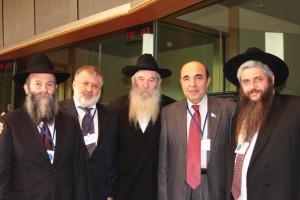Igor Kolomoisky, segundo por la izquierda