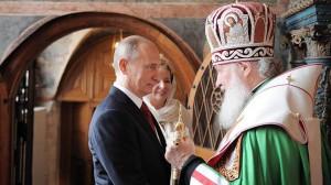 Putin y el patriarca de la Iglesia ortodoxa rusa