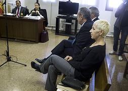 La cantante Ana Torroja durante el juicio en el que esta acusada de dos delitos fiscales