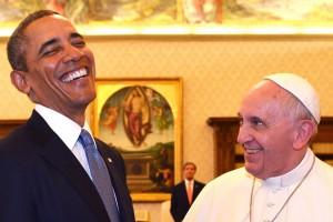 El Papa Francisco, durante su encuentro en el Vaticano con Barack Obama