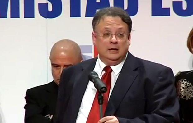César Vidal, durante el acto en que le fue entregado el Premio Samuel Hadas por parte de Israel