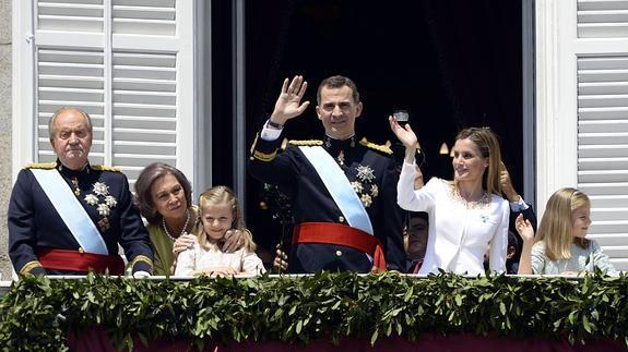La Familia Real, el día de la proclamación de Felipe VI.