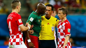 Imagen del partido que enfrentó a Camerún y Croacia en el Mundial de Brasil