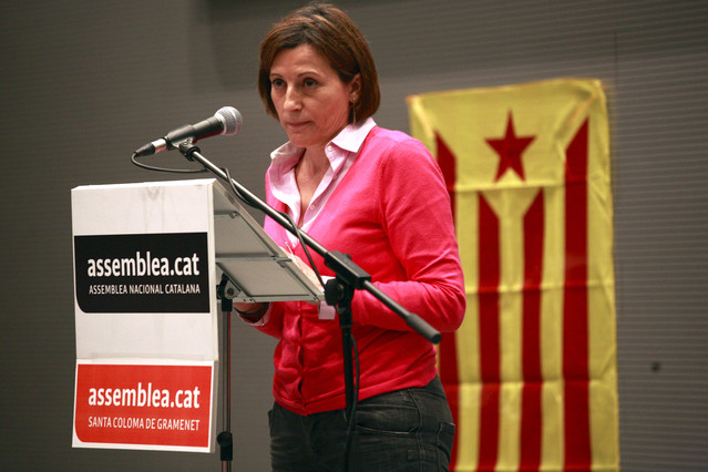 La presidenta de la Asamblea Nacional Catalana (ANC), Carme Forcadell