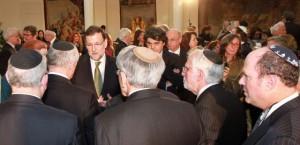 Rajoy, con miembros de la Conferencia de Presidentes de Organizaciones Judías de Estados Unidos, el pasado 13 de febrero en La Moncloa