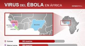 Mapa del ébola
