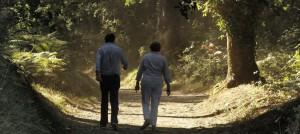 Merkel y Rajoy recorren un tramo del Camino de Santiago.