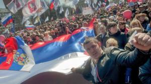 Prorrusos se manifiestan en Donetsk