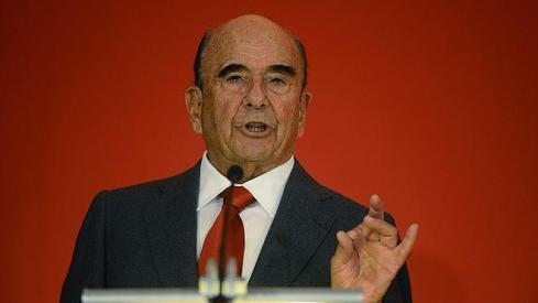 Emilio Botín, durante la última junta de accionistas del Santander.