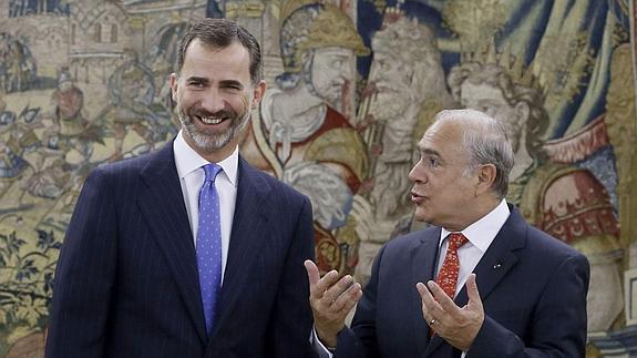 El Rey Felipe VI ha recibido a José Ángel Gurría