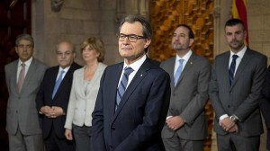 Artur Mas, tras la firma de la convocatoria