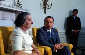 Richard Nixon y Golda Meir.