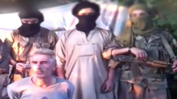 Imagen del vídeo del rehén francés Hervé Gourdel.