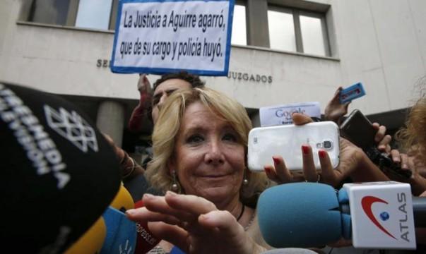 Esperanza Aguirre a la salida de los juzgados tras su declaración.