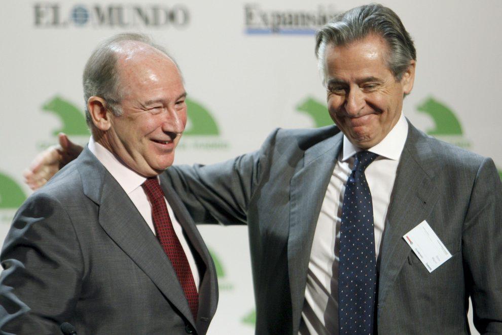 Los dos ex presidentes de Caja Madrid y Bankia, Miguel Blesa y Rodrigo Rato