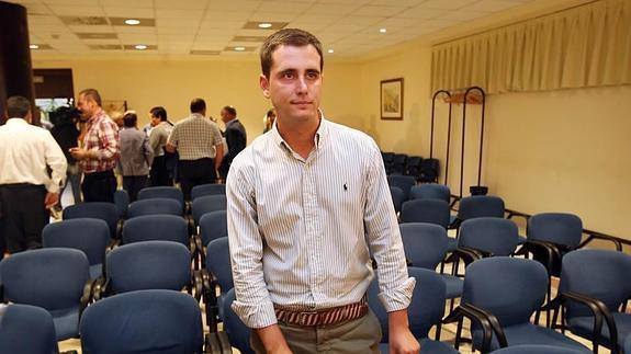 David González Medina, en el Auditorio de Oviedo tras el Comité Ejecutivo del PP de Asturias en que se aprobó la convocatoria del congreso local de este sábado.