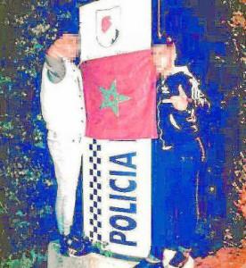 Los dos menores 'conquistaron' el cuartel de la Policía Local.