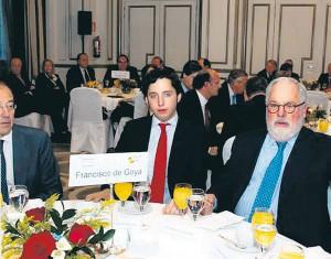 En diciembre del año pasado junto al exministro de Agricultura, Miguel Arias Cañete, en un desayuno en los salones del hotel Palace.