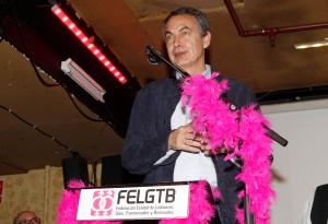 José Luis Rodríguez Zapatero durante la entrega de los premios Pluma