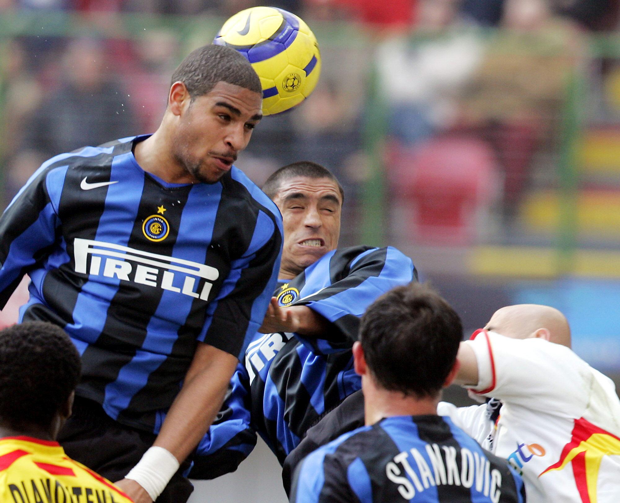 Adriano, en su etapa en el Inter