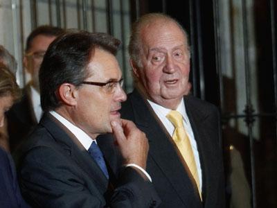 Artur Mas y Juan Carlos I