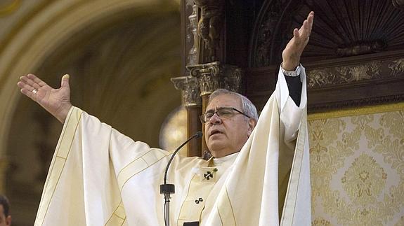 El arzobispo de Granada, Francisco Javier Martínez, ayer.