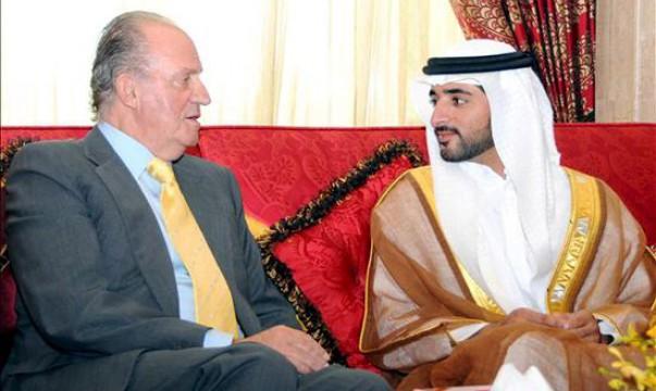 El rey Juan Carlos con el jeque Mohamed bin Rashid al Maktoum.