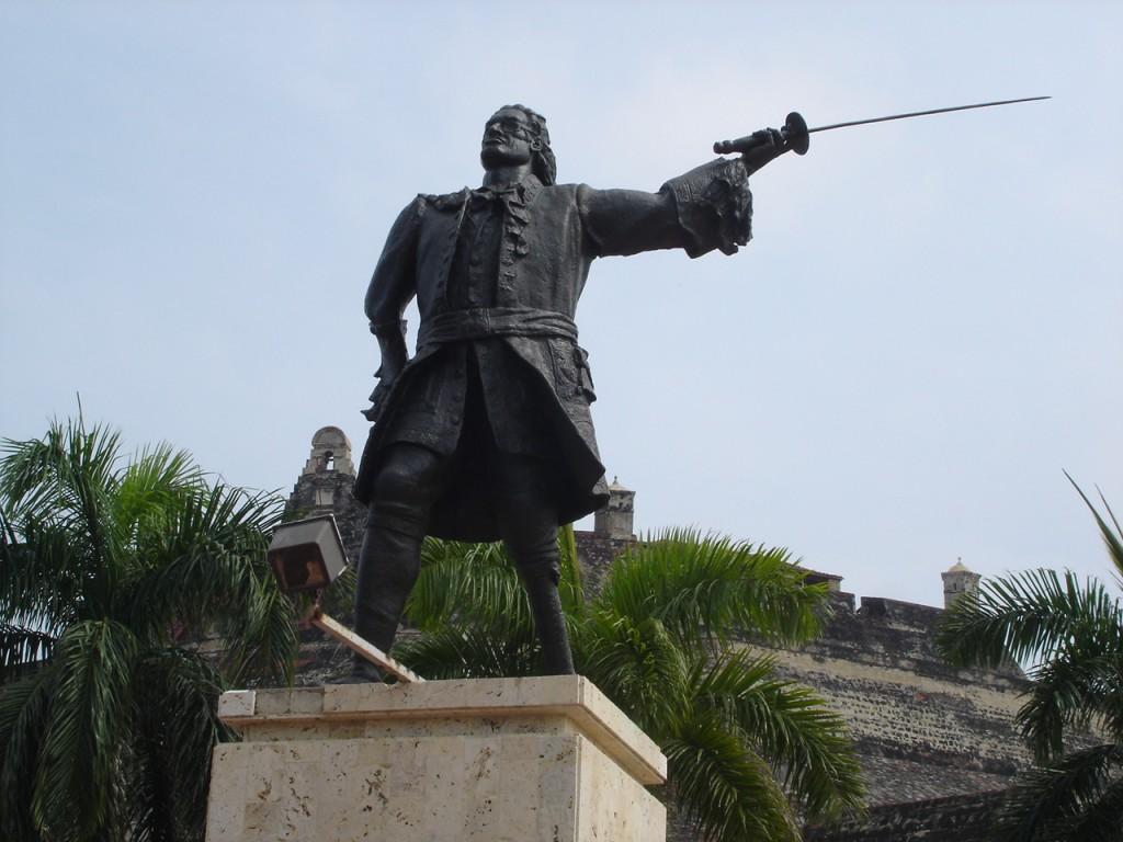 Blas de Lezo a los pies del San Felipe de Barajas