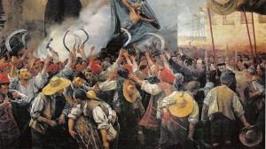 El Corpus de Sangre fue una sonada rebelión en la Barcelona de 1640, protagonizada por un numeroso grupo de segadores.