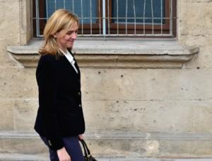 La Infanta Cristina a su llegada a los juzgados de Palma en febrero.