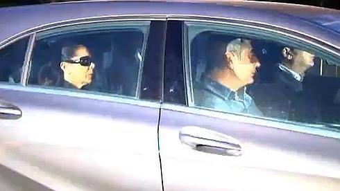 La cantante, a su llegada en coche al centro penitenciariol.