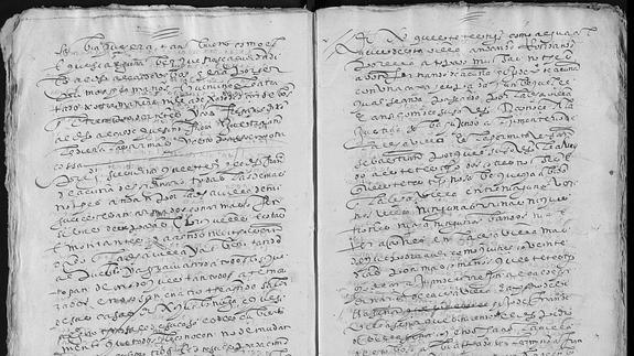 Uno de los documentos aportados por los historiadores.