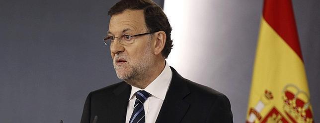 Rajoy, durante su comparecencia ante los medios