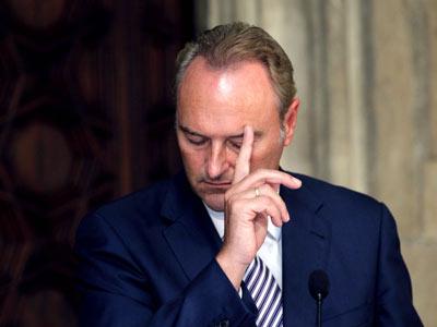 El presidente de la Generalitat valenciana, Alberto Fabra.
