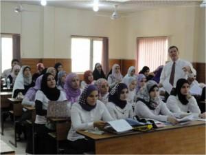 Estudiantes iraquíes en la universidad de Bagdad en 2011.