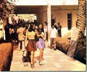 Estudiantes iraquíes en la universidad de Bagdad en 1970.
