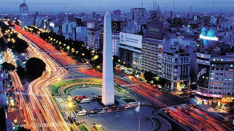 Vista de Buenos Aires con el Obelisco