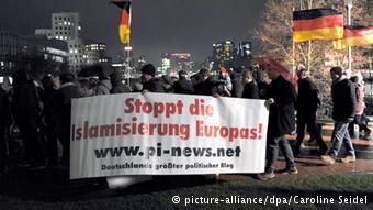 Manifestación de Pegida en Dresde.