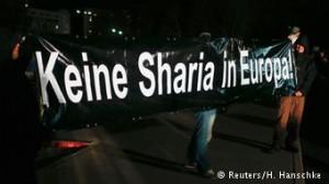 Pancarta contra la Sharia en Dresde.