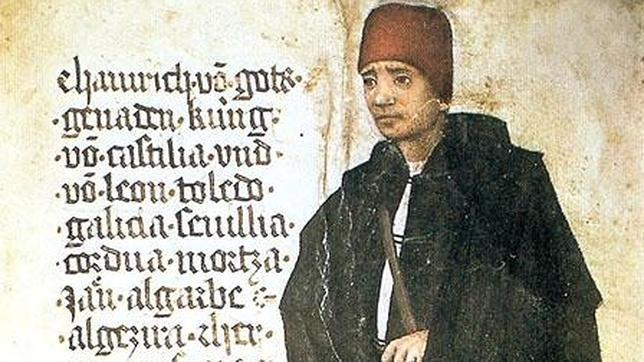 Enrique IV de Castilla, dibujado en un manuscrito por el viajero alemán Jörg von Ehingen